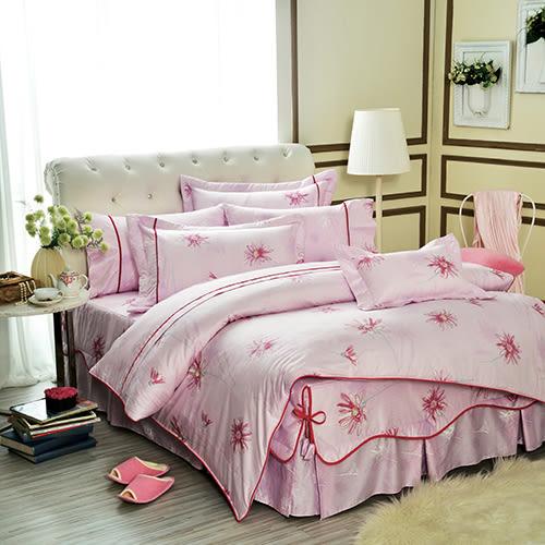 床罩組/雙人加大-6x6.2尺-中式全套-100%純棉-[花之情緣]-59175-(好傢在)