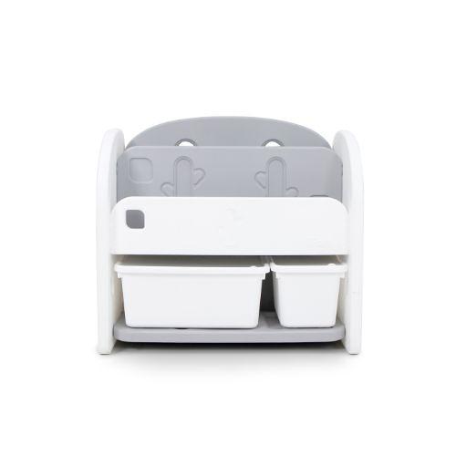 韓國 Ifam 白色書架收納組(白色收納盒x2)IF-064-1W[衛立兒生活館]