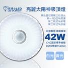 【亮博士LED】太陽神42W吸頂燈適合2~3坪開關三段調光(白光/黃光)