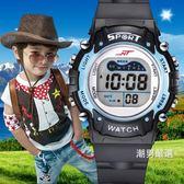 兒童手錶男孩夜光防水正韓時尚中小學生男童小孩運動多功能電子錶