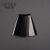 Queen Shop【03020571】童裝 親子系列 拼色A字長裙 S/M/L*現+預*