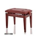 【非凡樂器】台製鋼琴升降椅/ 紅色/ 微調式 可依照身高調整琴椅高度