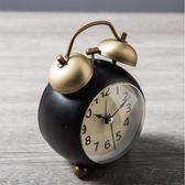 鬧鐘 靜音鬧鐘創意時鐘學生起床神器床頭鐘復古機械小鬧鐘臥室兒童鐘錶 米蘭街頭