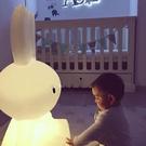 台燈臥室床頭燈創意北歐溫馨男女孩可愛卡通兒童房護眼落地兔子燈 夢幻小鎮