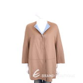 Max Mara 經典駝撞色圓領羊毛大衣 1920874-07