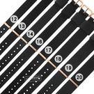Watchband / 12.13.14.16.17.18.19.20 mm / DW 各品牌通用 鍍玫瑰金不鏽鋼扣頭 尼龍錶帶 黑色 #828-31-BK-R