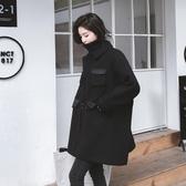【限時下殺79折】呢子大衣女短版秋冬好康推薦流行新品正韓森繫學生寬鬆bf加厚毛呢外套
