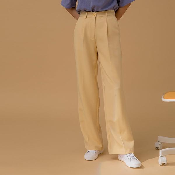 Queen Shop【04030276】同色釦打褶落地西裝褲 三色售 S/M/L*現+預*