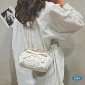 貝殼包鍊條迷你小包包女2018新款夏天夾口貝殼包正韓CHIC少女單肩斜背包 (全館88折)