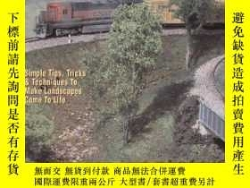 二手書博民逛書店Scenery罕見for Model Railroads, Dioramas & Miniatures: With