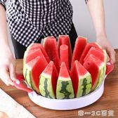 不銹鋼切西瓜的刀特大號加長水果切塊多功能 切西瓜神器分割器【帝一3C旗艦】