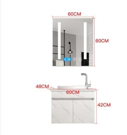 衛浴智慧北歐浴室櫃組合落地式洗臉洗手面盆池洗漱台盆衛生間鏡櫃ATF 艾瑞斯居家生活