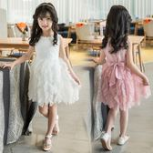 女童連衣裙夏裝2018新款兒童裝中大印花韓版無袖公主裙 LR425【歐爸生活館】