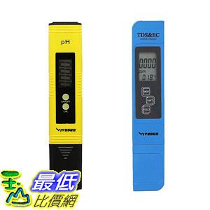 [8美國直購] 儀表組合 VIVOSUN pH TDS Meter Combo, 0.05ph High Accuracy Pen Type pH Meter +/- 2%