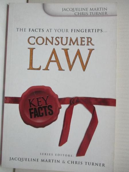 【書寶二手書T6/法律_GZV】Consumer Law_Martin, Jacqueline/ Turner, Chris