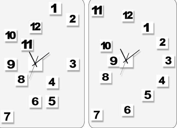 美世達現代個性DIY掛鐘客廳靜音藝術鐘錶壁鐘時尚臥室創意時鐘(20英吋常規版)