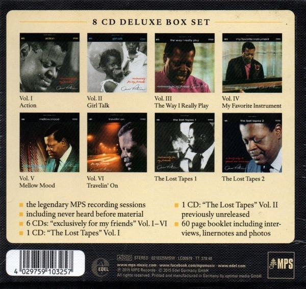 【停看聽音響唱片】【CD】OSCAR PETERSON:Exclusively For My Friends (8 CD)
