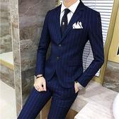 西裝外套韓版修身男士三件套職業正裝 mc3447『M&G大尺碼』