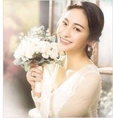 新款婚紗攝影道具手捧花白色 影樓外景拍攝道具手捧花韓式 【PINK Q】
