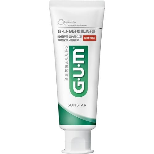 GUM牙周護理牙膏直立式-草本薄荷130g【愛買】