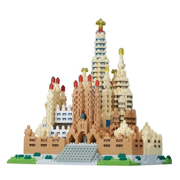 《 Nano Block 迷你積木 》【世界主題建築系列】NB-028 聖家堂 DX豪華版 / JOYBUS玩具百貨
