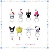 asdfkitty可愛家☆SANRIO kuromi小惡魔 酷洛米5號全身造型 戒指-分售-歐美正版商品