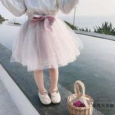 女童紗裙半身裙子中小童蓬蓬裙短裙兒童公主裙【時尚大衣櫥】