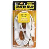 明家 2PIN1孔電源延長線16呎15A W2101-16