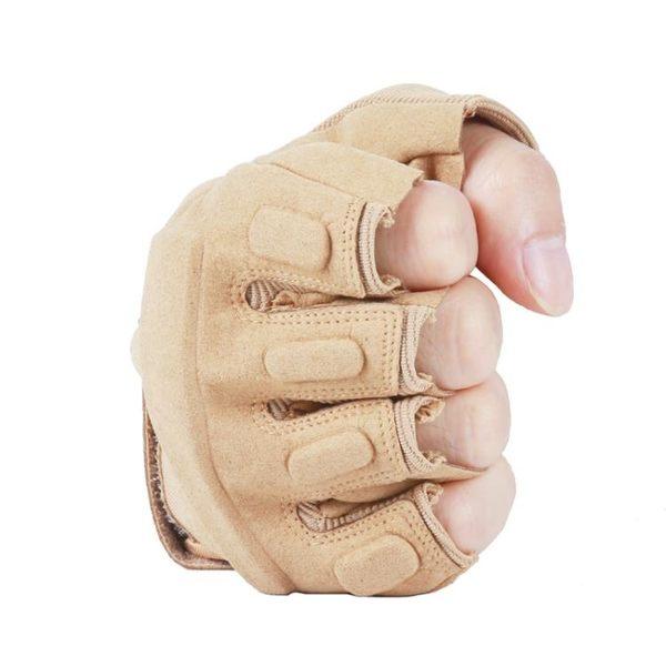 特種兵黑鷹戰術手套半指透氣登山運動夏戶外防滑騎行 男女「櫻桃」