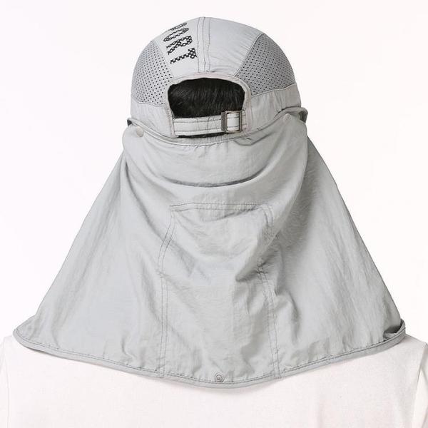 防曬棒球帽子男夏季運動戶外漁夫鴨舌帽騎車遮陽釣魚帽登山太陽帽