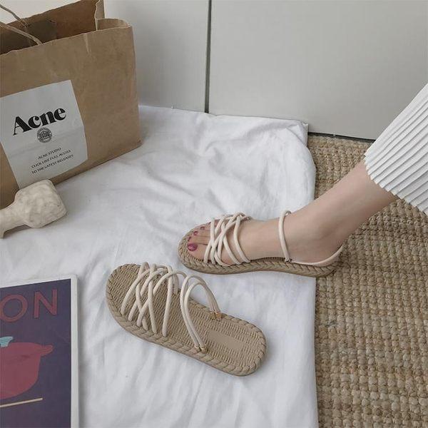 平底涼鞋 搭配長裙子的晚晚涼鞋仙女風平底ins潮學生百搭新款夏季網紅 曼慕衣櫃