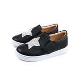 HITO BELLE 懶人鞋 戶外休閒鞋 黑色 星星 中童 6372-99 no070