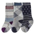 【韓風童品】(3雙/組)男寶寶防滑中筒襪 兒童棉襪 點膠防滑襪子 學生襪 嬰幼兒中筒襪子