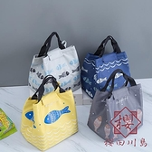 2個裝 保溫便當袋上班族棉麻防水保溫袋手提【櫻田川島】