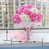 新娘手捧花 韓式婚禮結婚用品 仿真假花手拋花球創意攝影道具  居家物語
