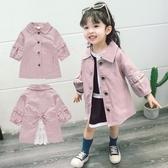 女童外套2020新款春裝洋氣女中長款風衣童裝1-4歲小童春秋款【免運】