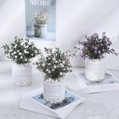 仿真植物假草盆栽擺件設北歐ins綠植盆景客廳室內裝飾滿天星小花  嬌糖小屋