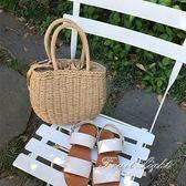 草編包 韓版小清新手提編織草編包 沙灘包度假夏季女包 果果輕時尚