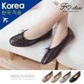 包鞋.朵結方頭娃娃鞋(杏、黑)-FM時尚美鞋-韓國精選.Conversion