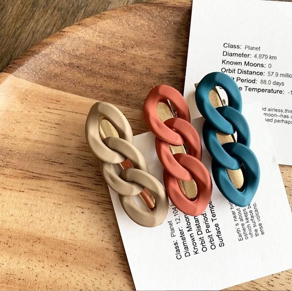 【E0105】韓國簡約風 森林系 髮辮造型夾 瀏海夾 (三色任選/1入)