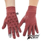 PolarStar 抗UV排汗短手套『暗紅』P21515 戶外.露營.防曬手套.防風手套.機車手套.騎車手套.開車手套