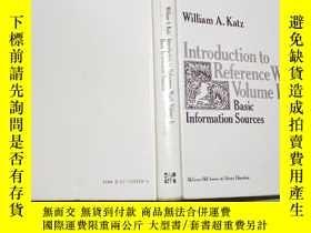 二手書博民逛書店英文原版INTRODUCTION罕見TO REFERENCE WORK(VOLUME I )BASIC INFOR