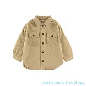 「Hot item」胸前口袋落肩剪裁襯衫外套 - earth music&ecology