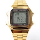 CASIO卡西歐 方形金色電子手錶【NEC6】原廠公司貨