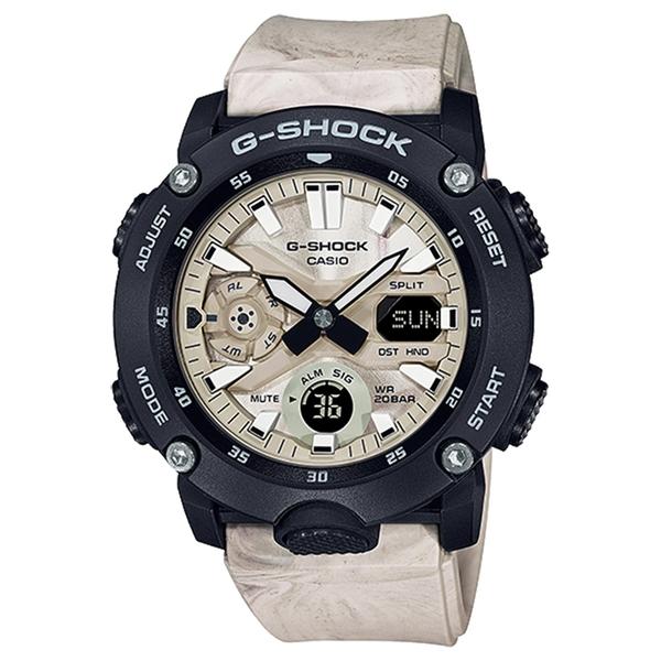 CASIO 卡西歐 G-SHOCK 地質系大理石紋手錶 GA-2000WM-1A
