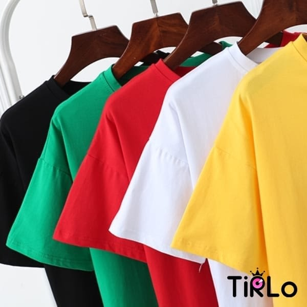 短T -Tirlo-塗鴉感文青小人偶短T-五色(現+追加預計5-7工作天出貨)