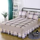 全棉夾棉床裙床罩單件加厚純棉床套床蓋床單1.8m/1.5米保暖秋冬款 雙十二購物節