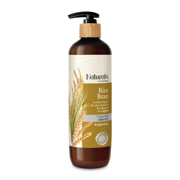 Naturals by Watsons 米糠沐浴露490ml(NEW)