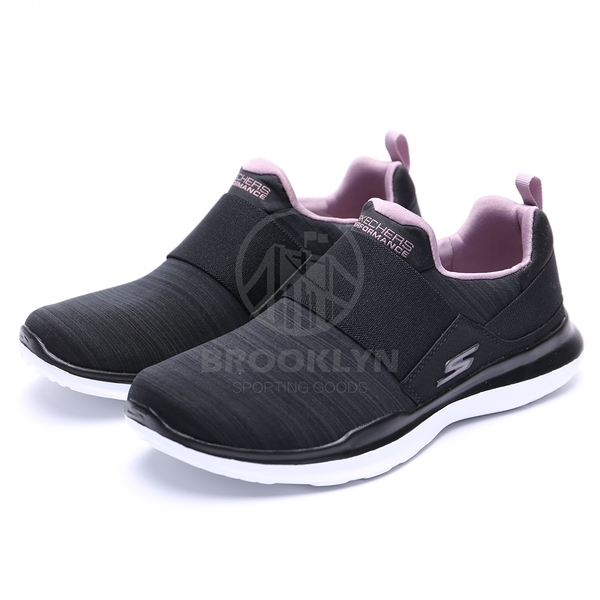 SKECHERS GO RUN MOJO-ENSURE 黑 紫 編織 襪套 女 (布魯克林) 2019/4月 15116BKMV