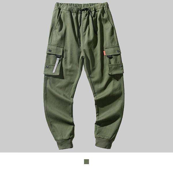 【男人幫大尺碼】K1628-時尚潮流嘻哈工作長褲-軍綠色